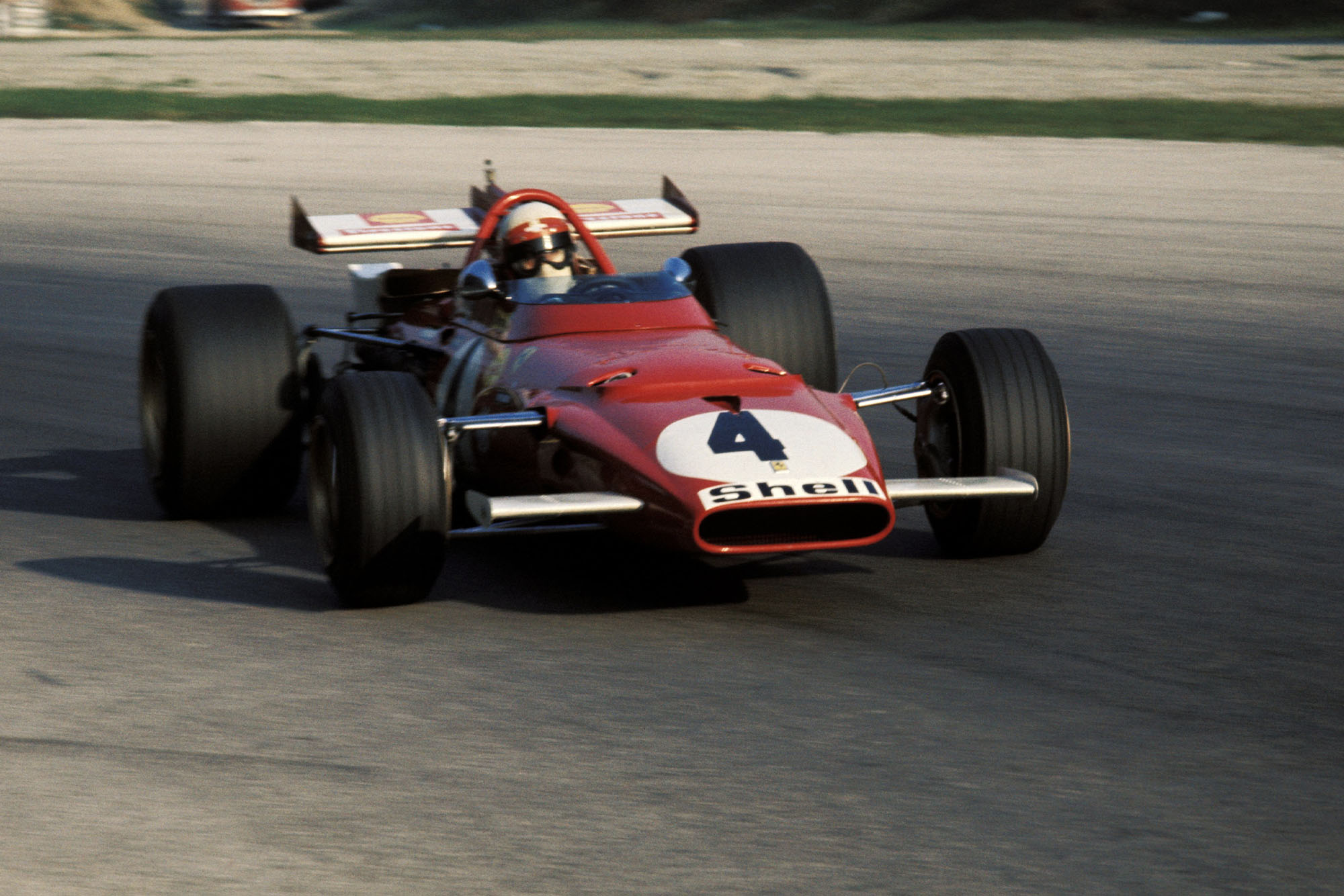 Clay Regazonni driving for Ferrari at the 1970 Italian Grand Prix