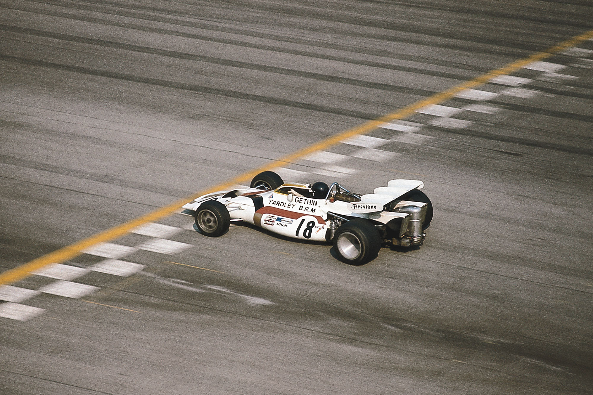Peter Gethin driving for BRM at the 1971 Italian Grand Prix.