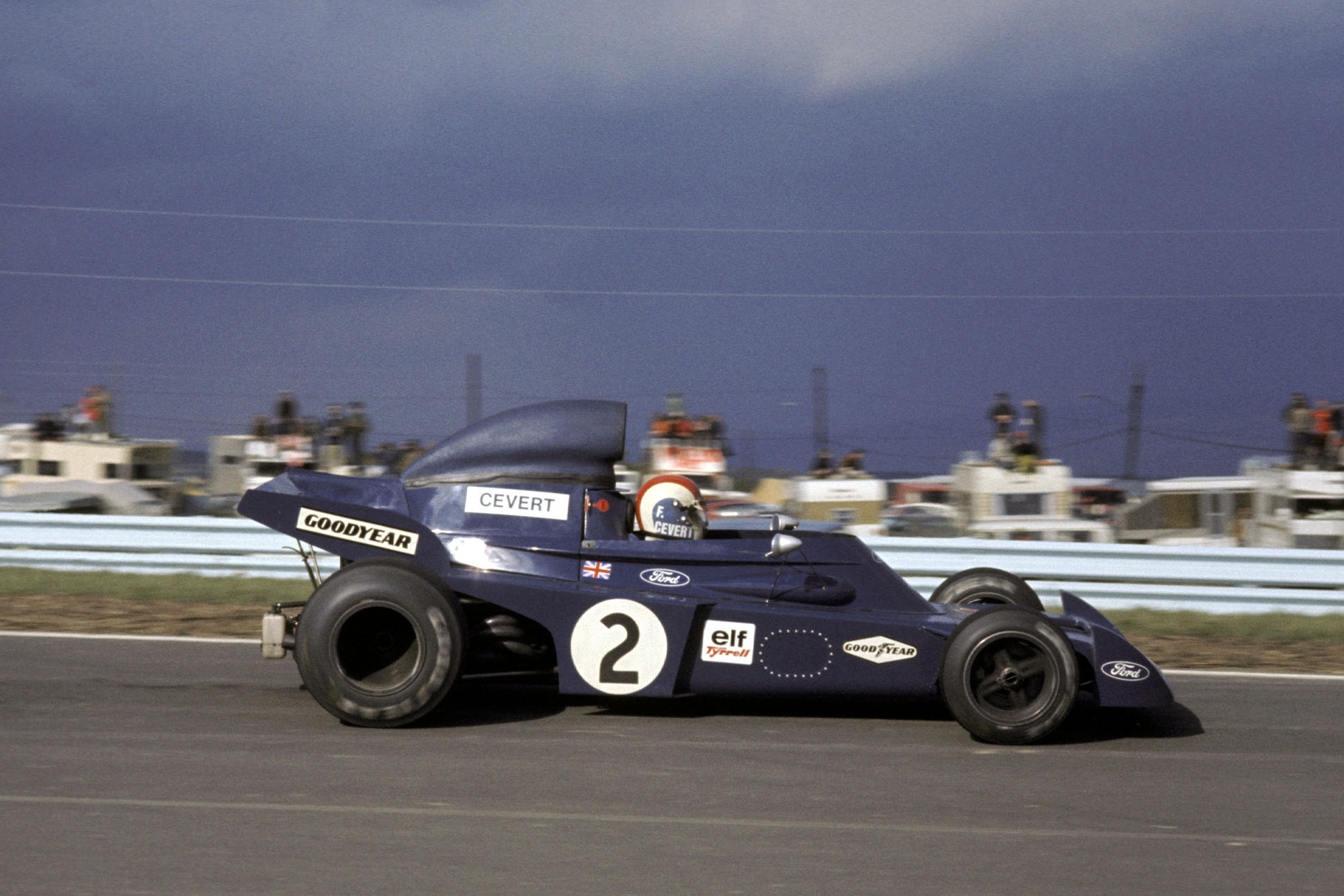 Francois Cevert driving for Tyrrell at the 972 US Grand Prix.