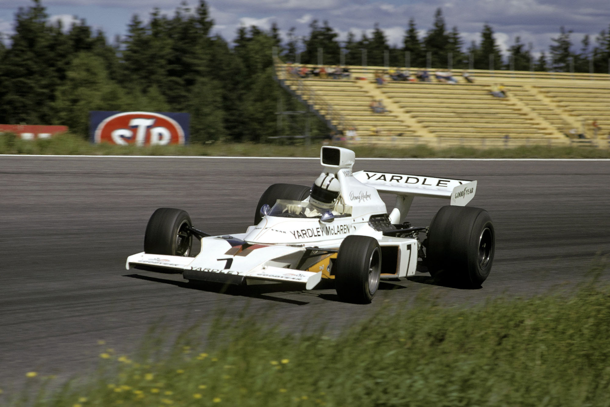 Denny Hulme driving for McLaren at the 1973 Swedish Grand Prix.