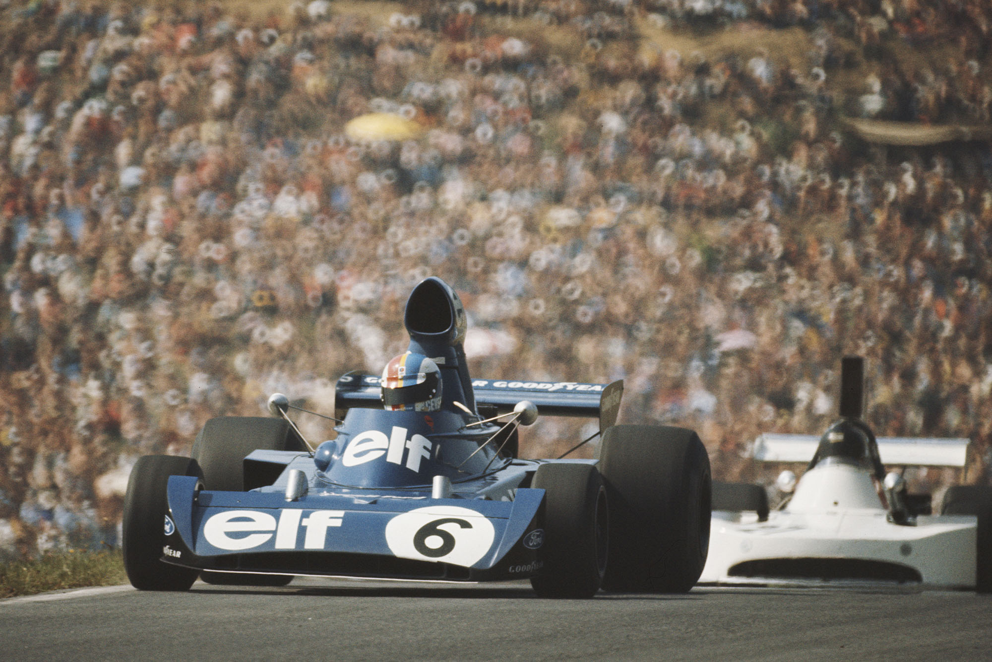Francois Cevert driving for Tyrrell at the 1973 Austrian Grand Prix