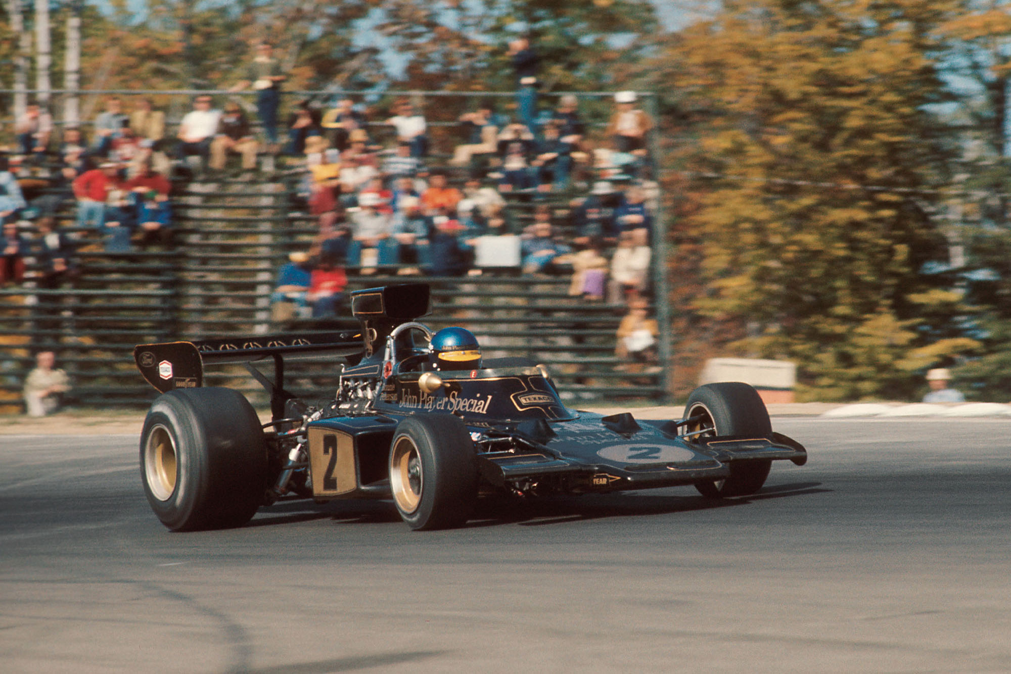 Ronnie Peterson driving the Lotus at Watkins Glen.
