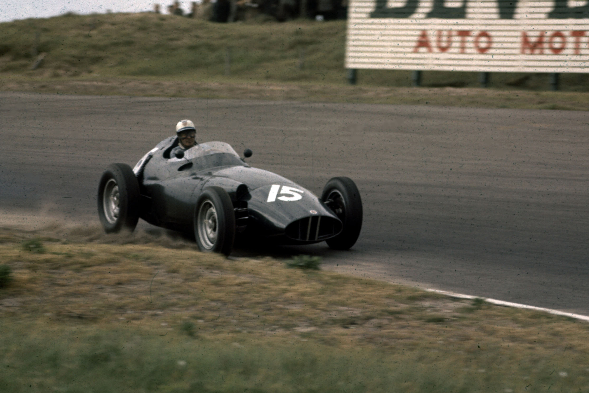 Harry Schell (BRM P25) in 2nd position
