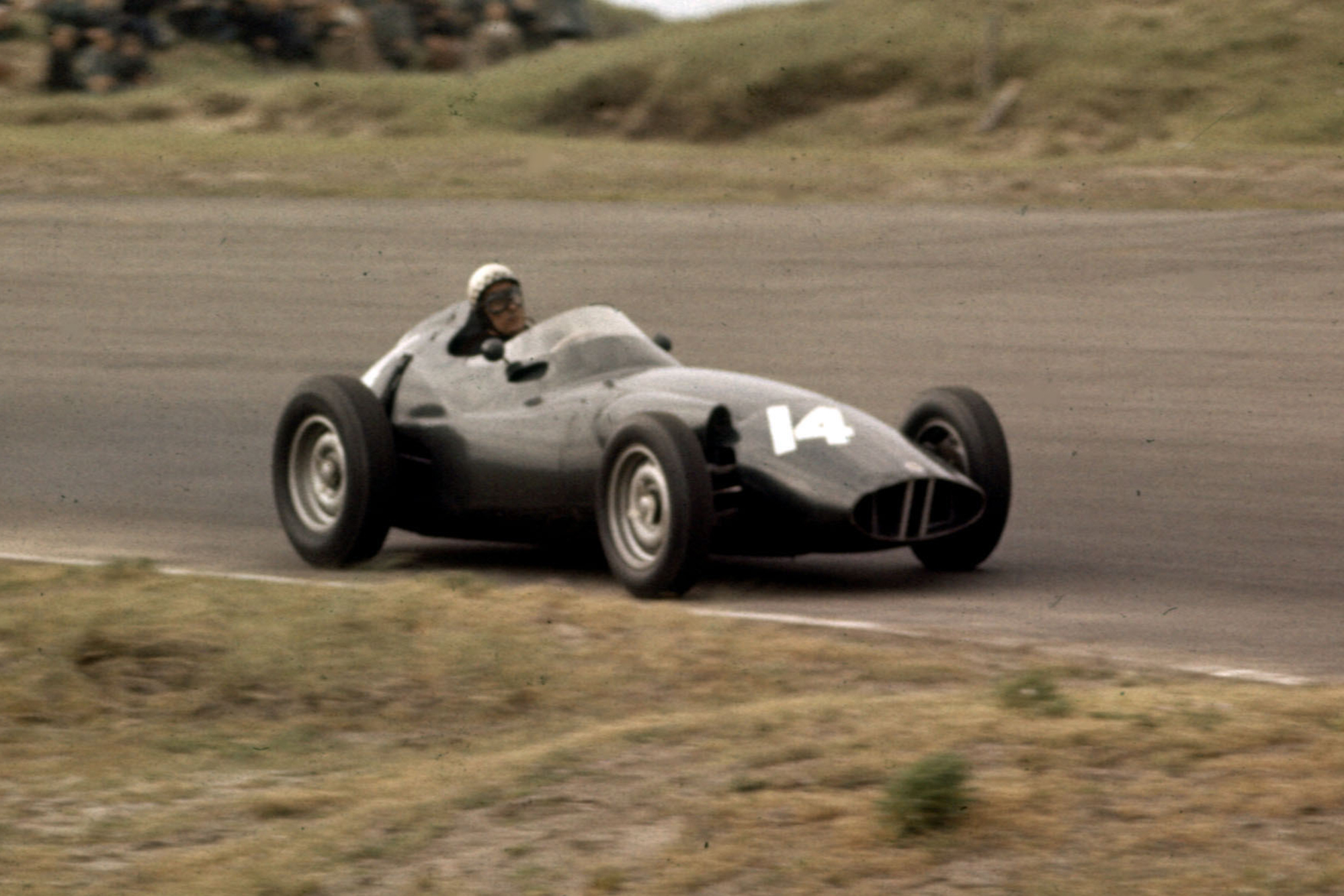 Jean Behra driving a BRM P25, who went on to finish in 3rd