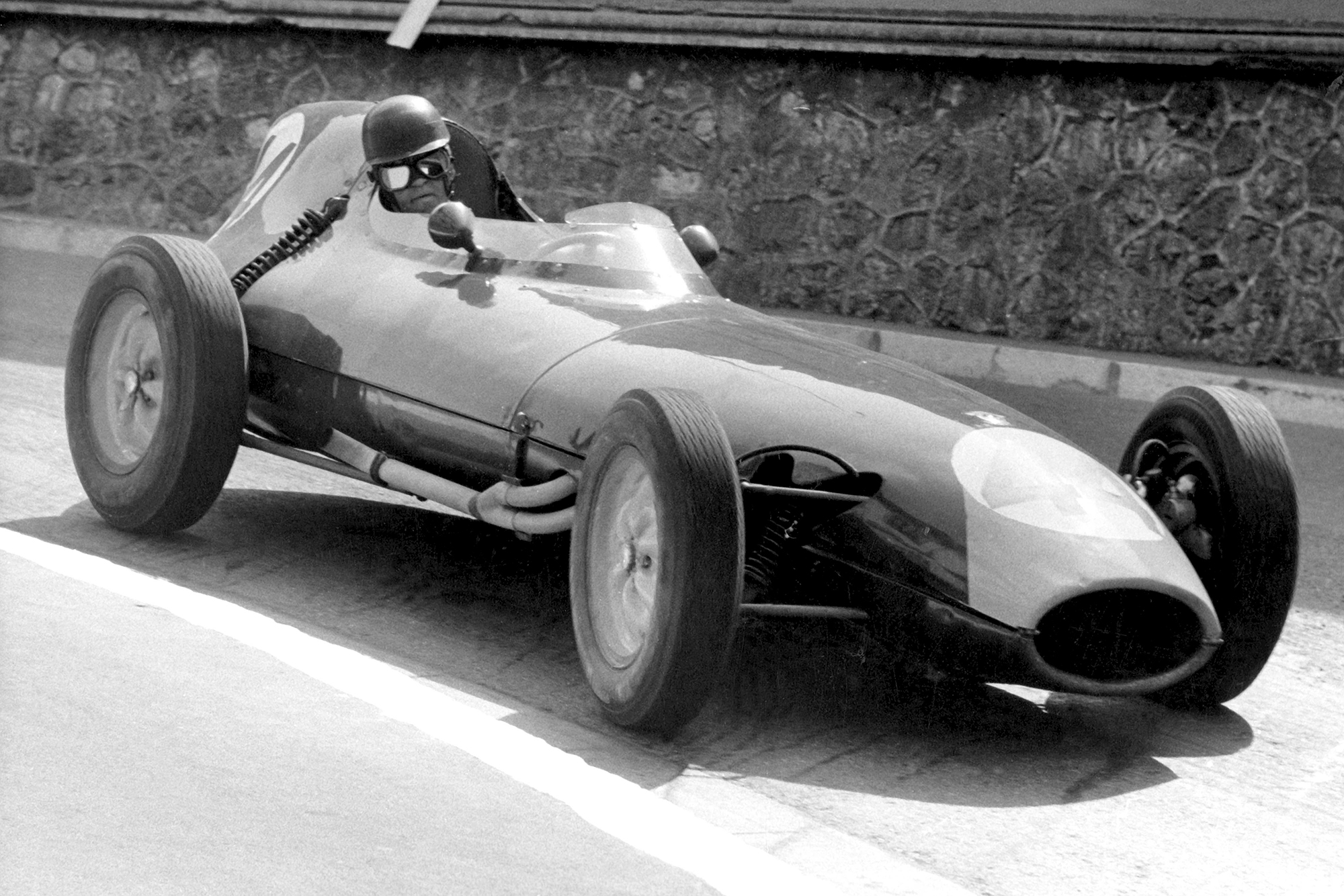 Bruce Halford in his Lotus 16-Climax.