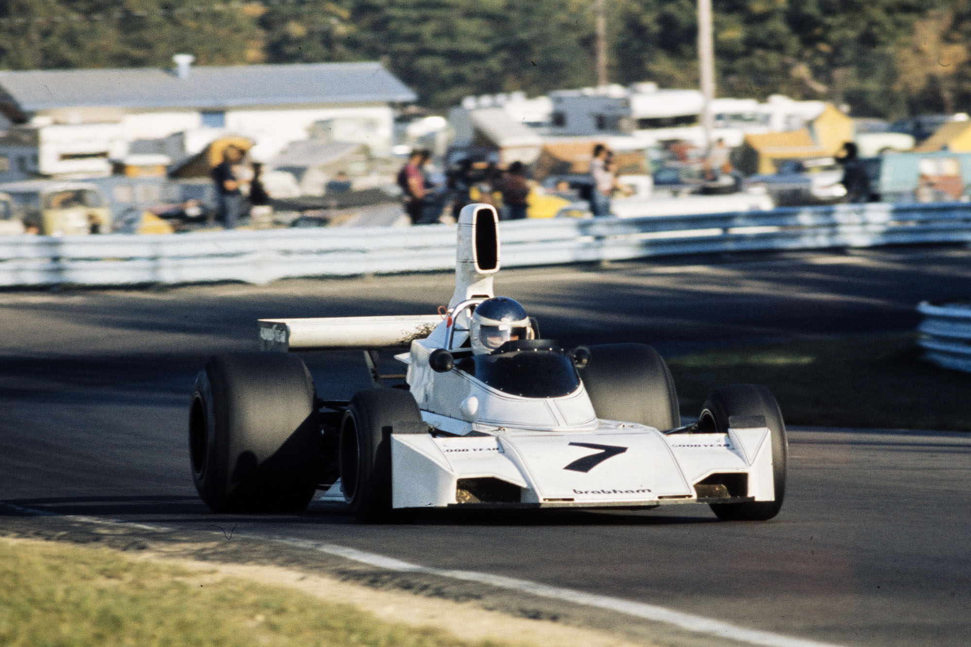 Carlos Reutemann (Brabham) competing at the 1974 United States Grand Prix