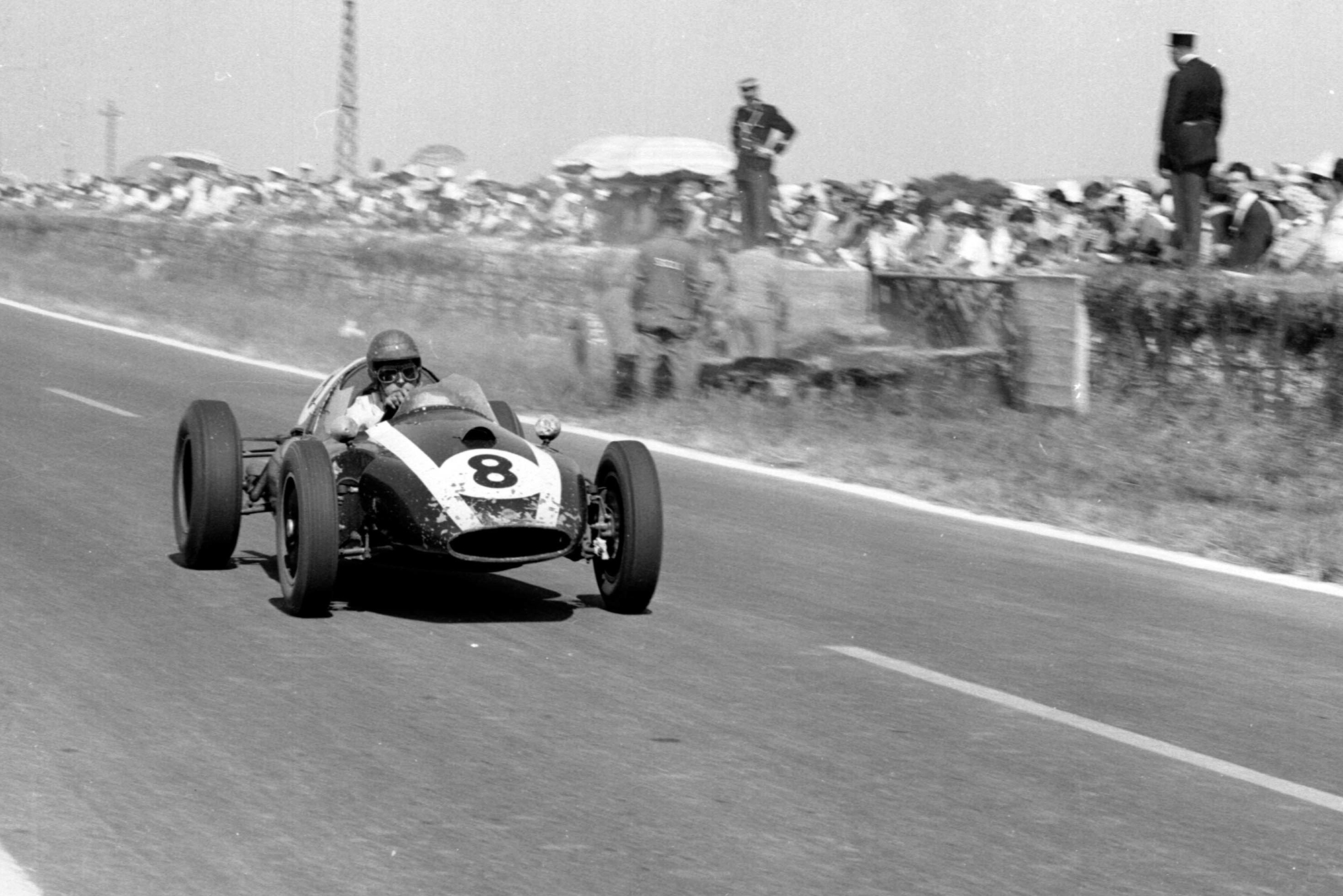 Jack Brabham in his Cooper T51-Climax.