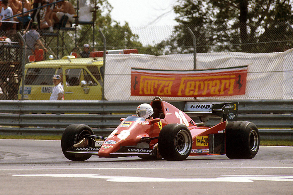 Rene Arnoux in 1st place in his Ferrari 126C2B.