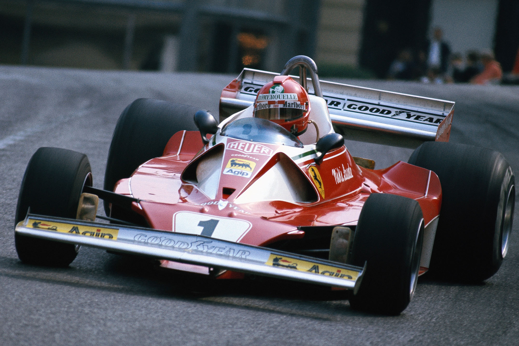 Niki Lauda (Ferrari) at the 1976 Monaco Grand Prix.