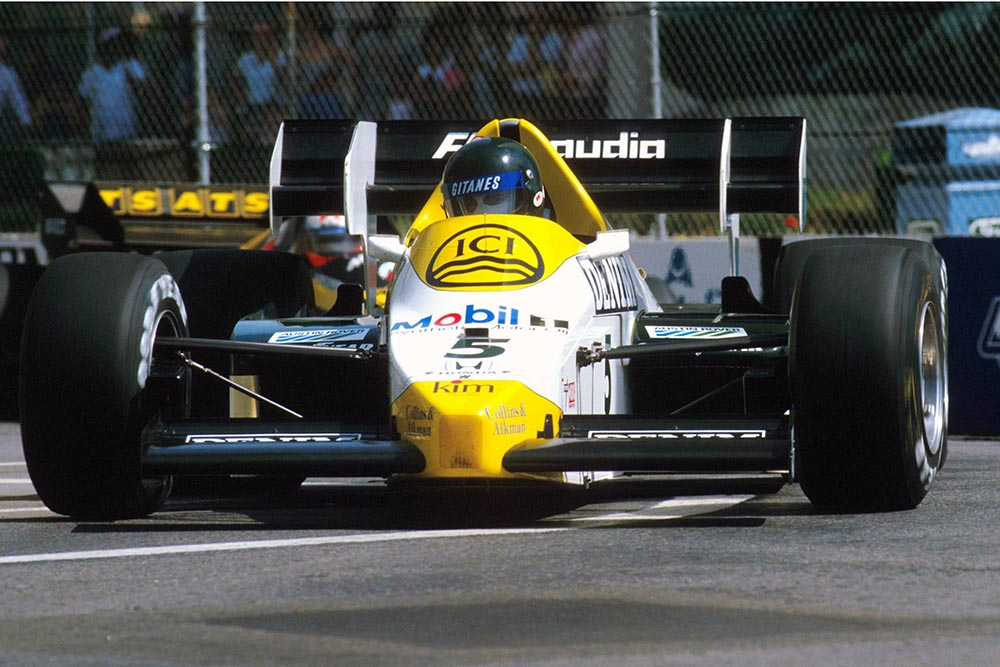 Jacques Laffite in his Williams FW09.