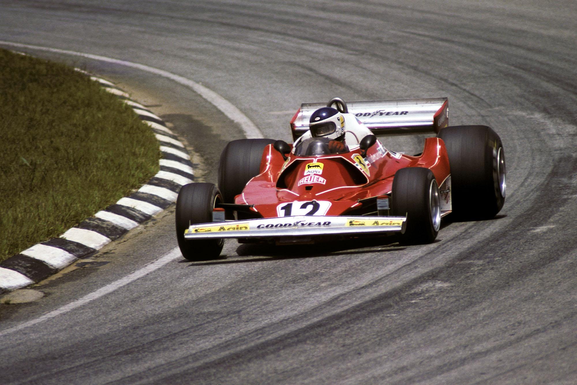 Carlos Reutemann driving for Ferrari at the 1977 Brazilian Grand Prix, Interlagos.