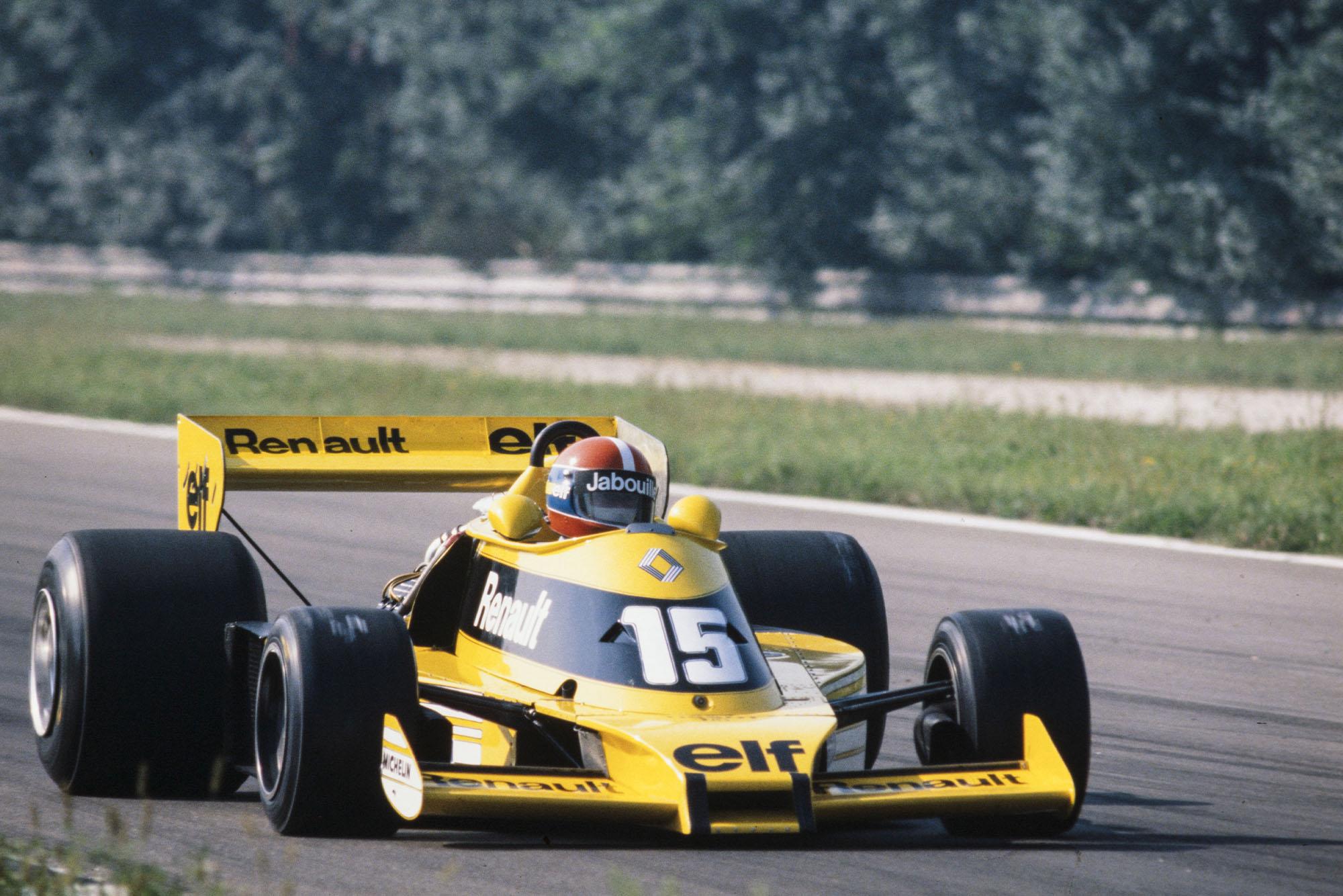 Jean-Pierre Jabouille (Renault) at the 1977 Italian Grand Prix, Monza.