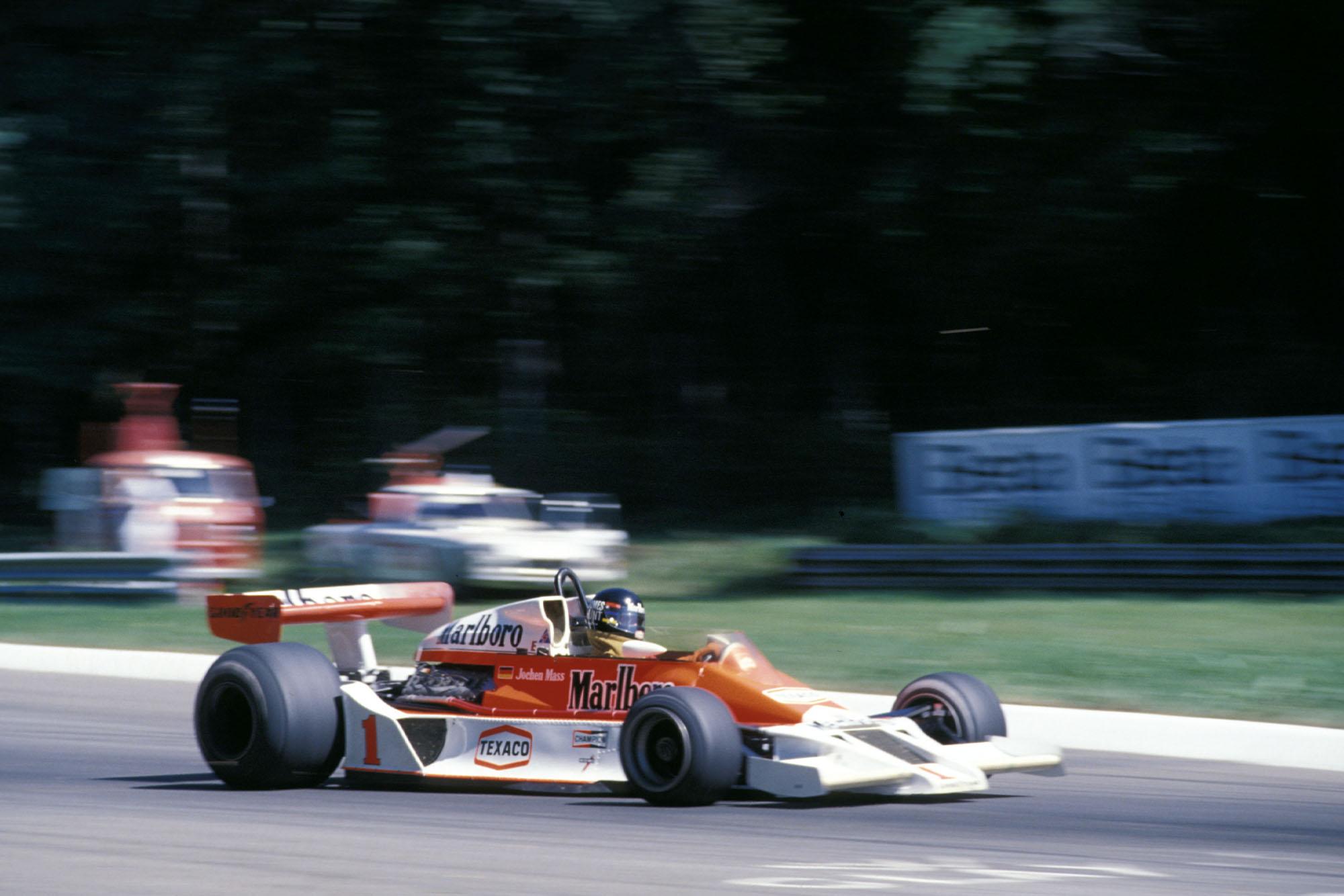 James Hunt (McLaren) at the 1977 Italian Grand Prix, Monza.