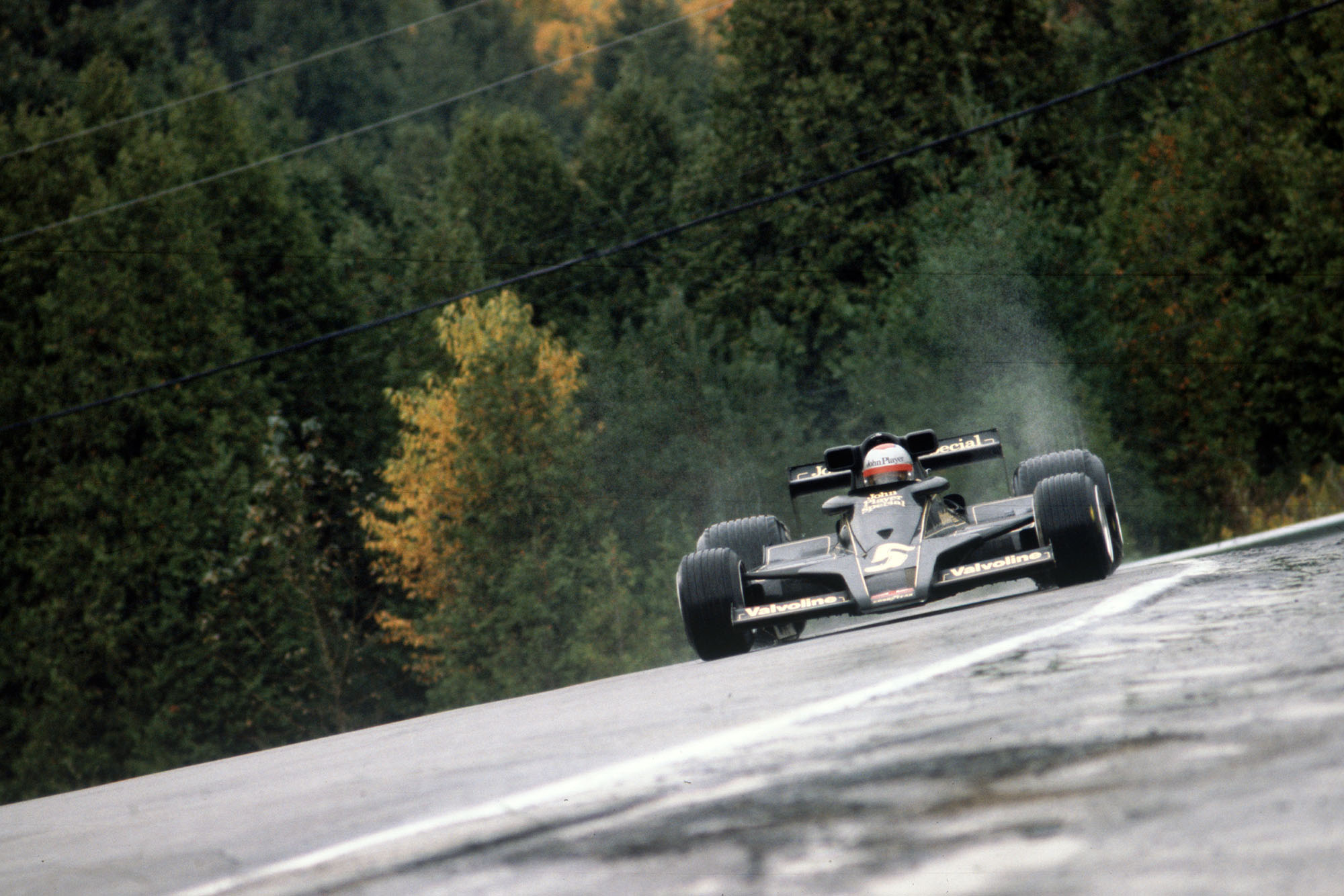 Mario Andretti (Lotus) at the 1977 Canadian Grand Prix, Mosport Park.