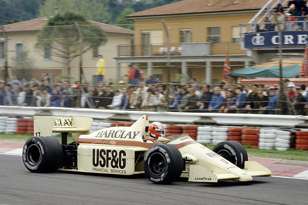 Marc Surer in his Arrows A8 BMW.