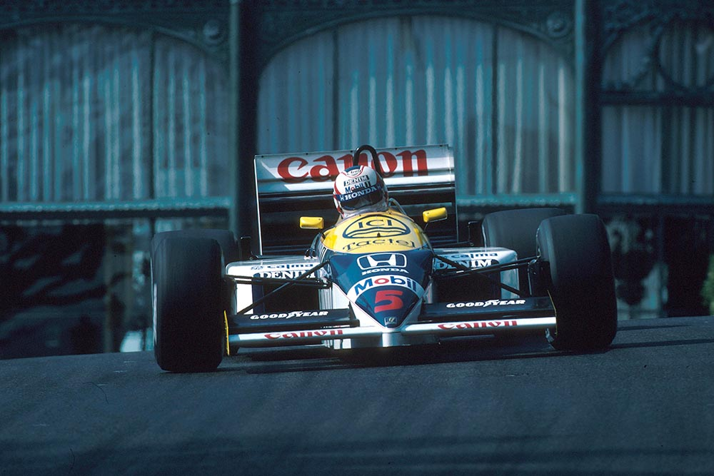 Nigel Mansell in his Williams FW11.