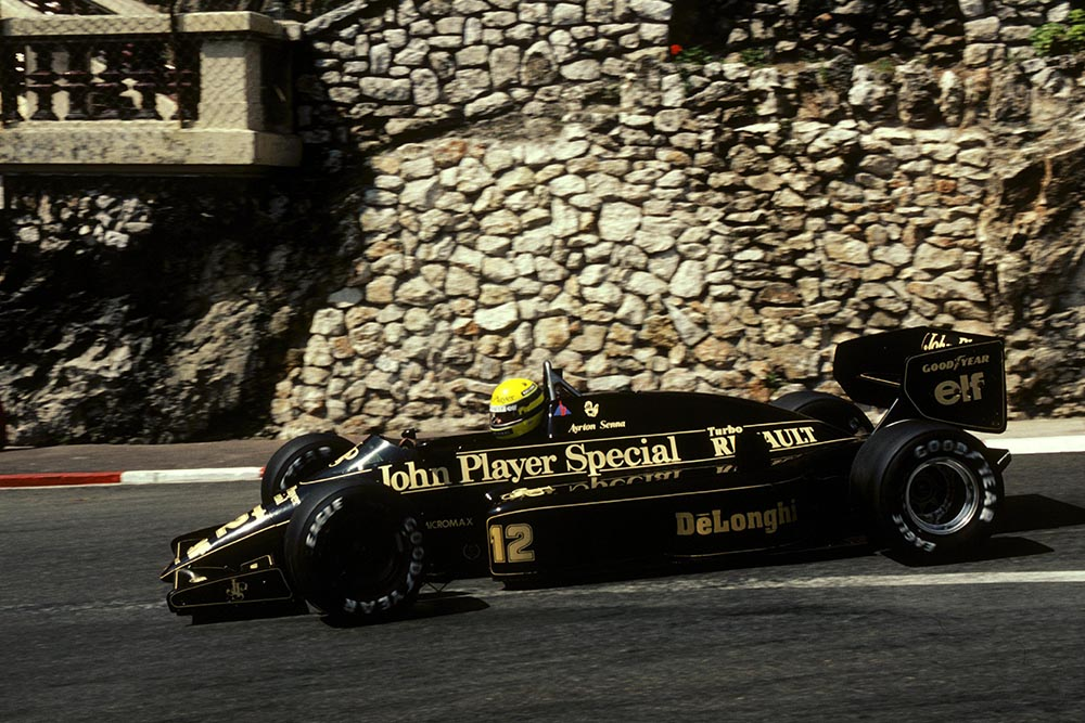 Ayrton Senna Lotus 98T qualified and finished third.