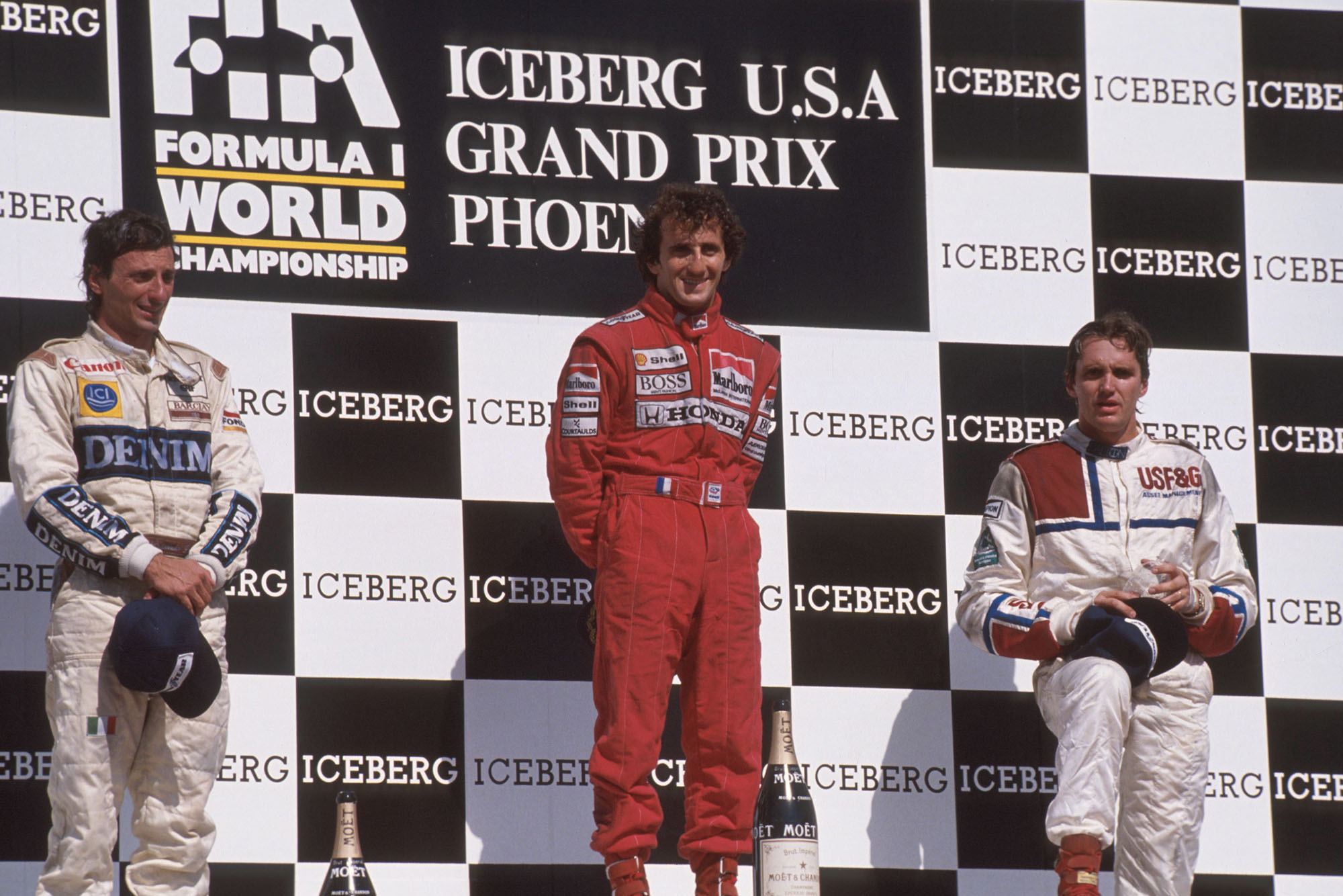 1989 US GP podium