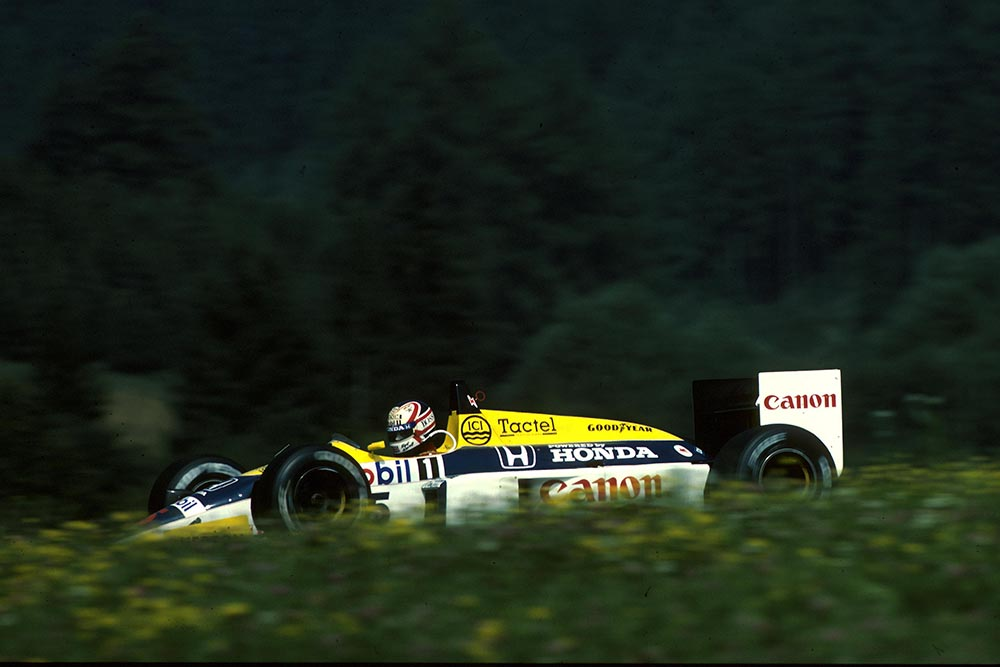 Nigel Mansell did not finish in his Williams FW11.