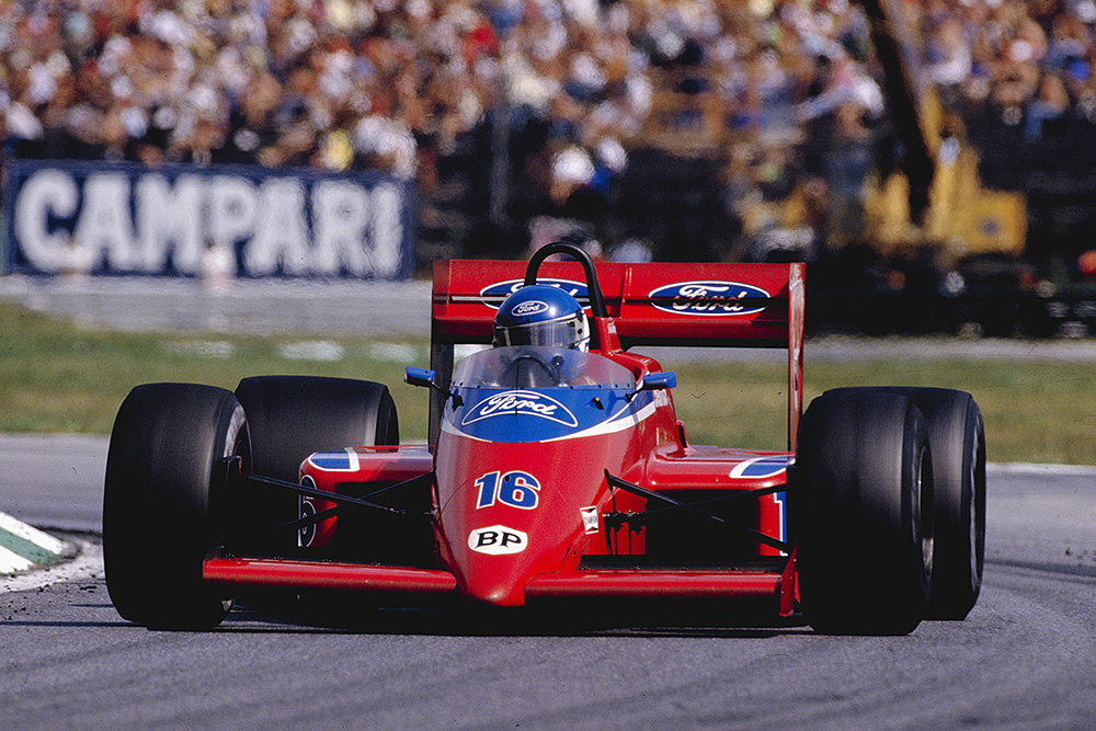 Patrick Tambay in his Team Haas/Lola THL2 Ford.