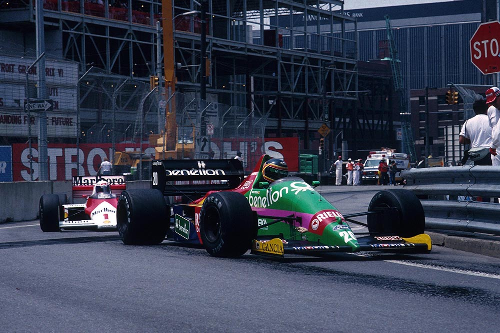 Thierry Boutsen driving his Benetton B187.
