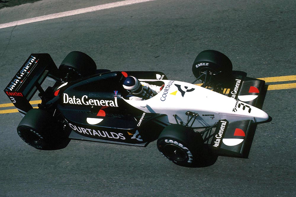 Jonathan Palmer finished 11th in his Tyrrell DG016.