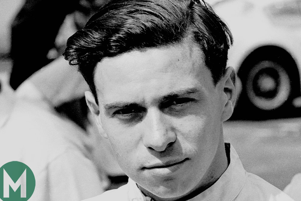 Jim Clark looks at camera