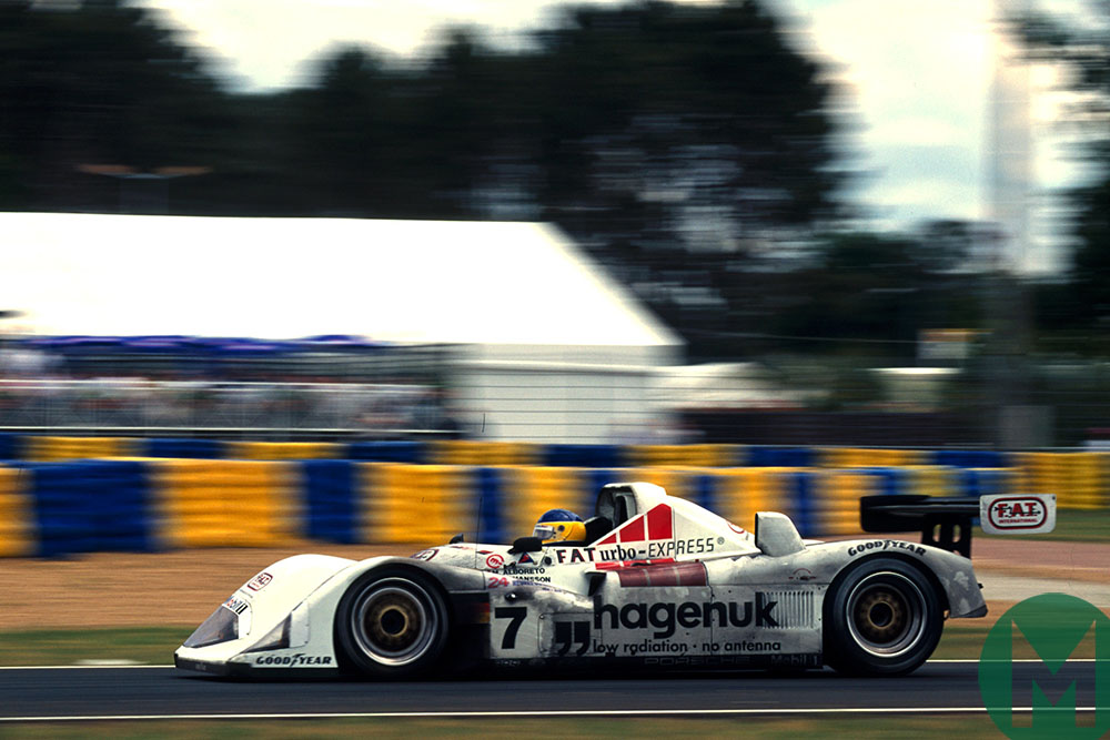 Michele Alboreto on his way to victory at 1997 Le Mans in his Porsche LMP1