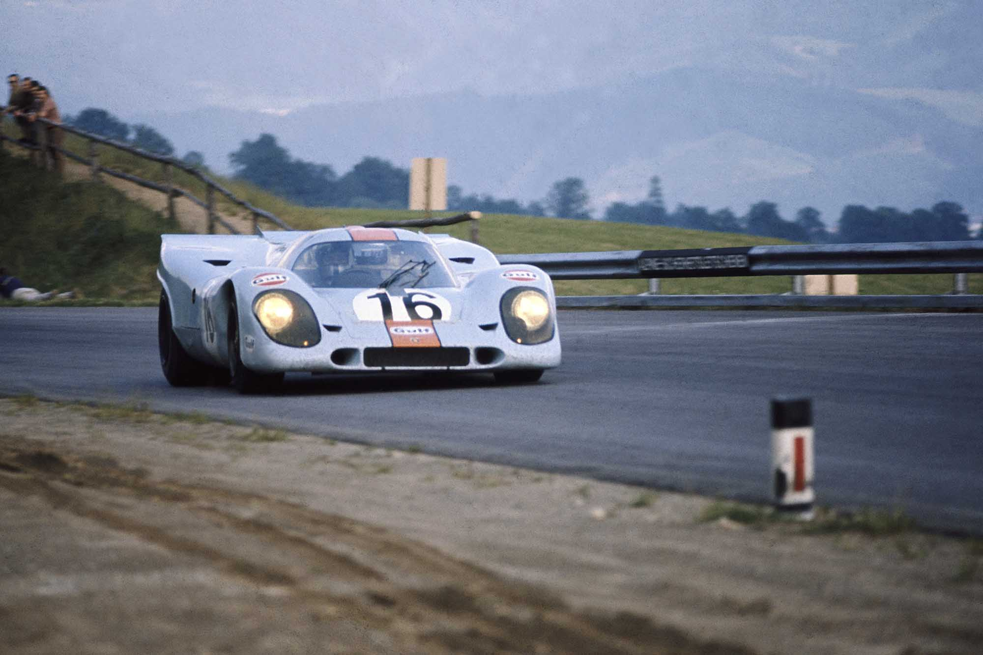Pedro Rodriguez in his Porsche 917 at Austrian 1000km