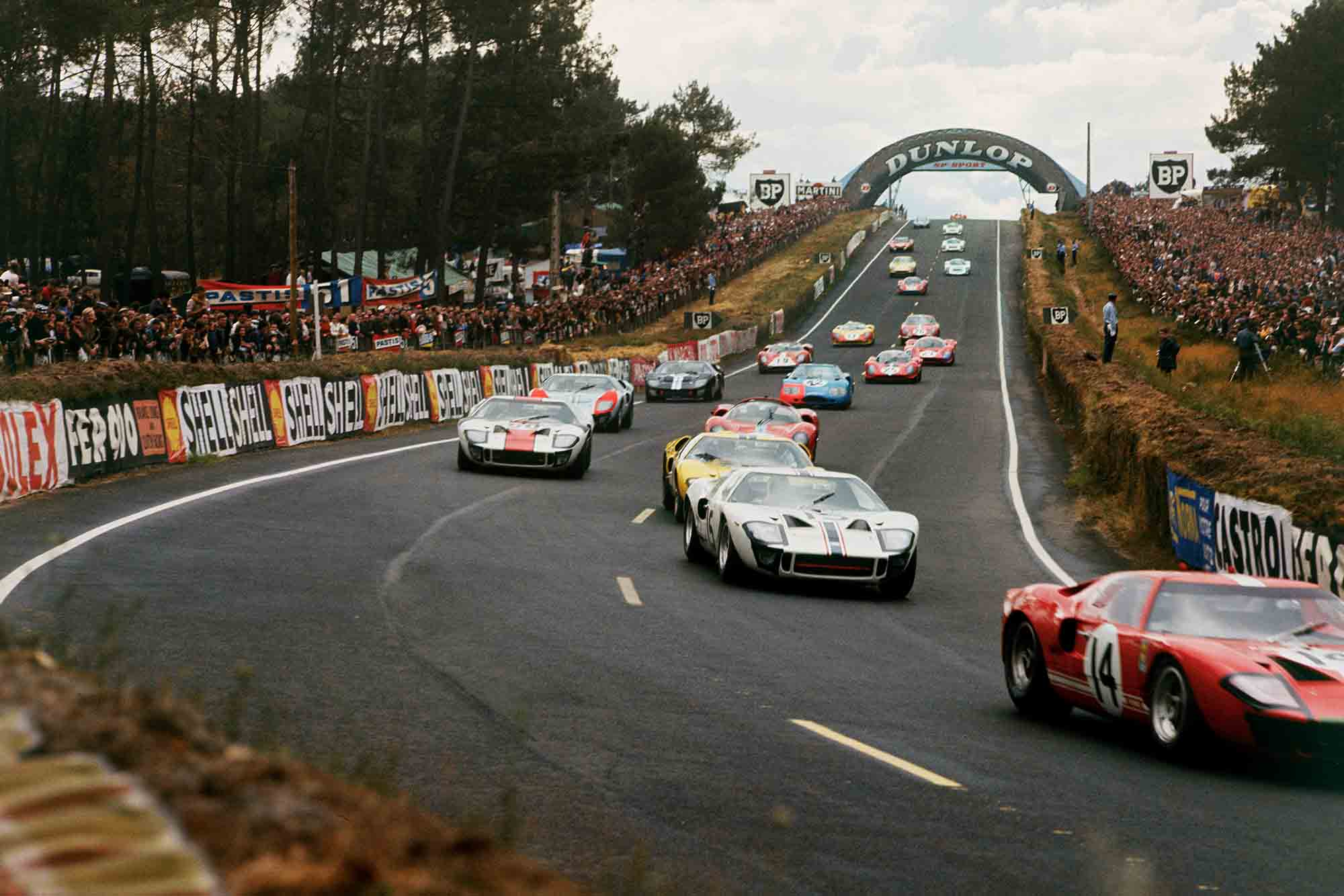 Ford GT40s lead the way at 1966 Le Mans