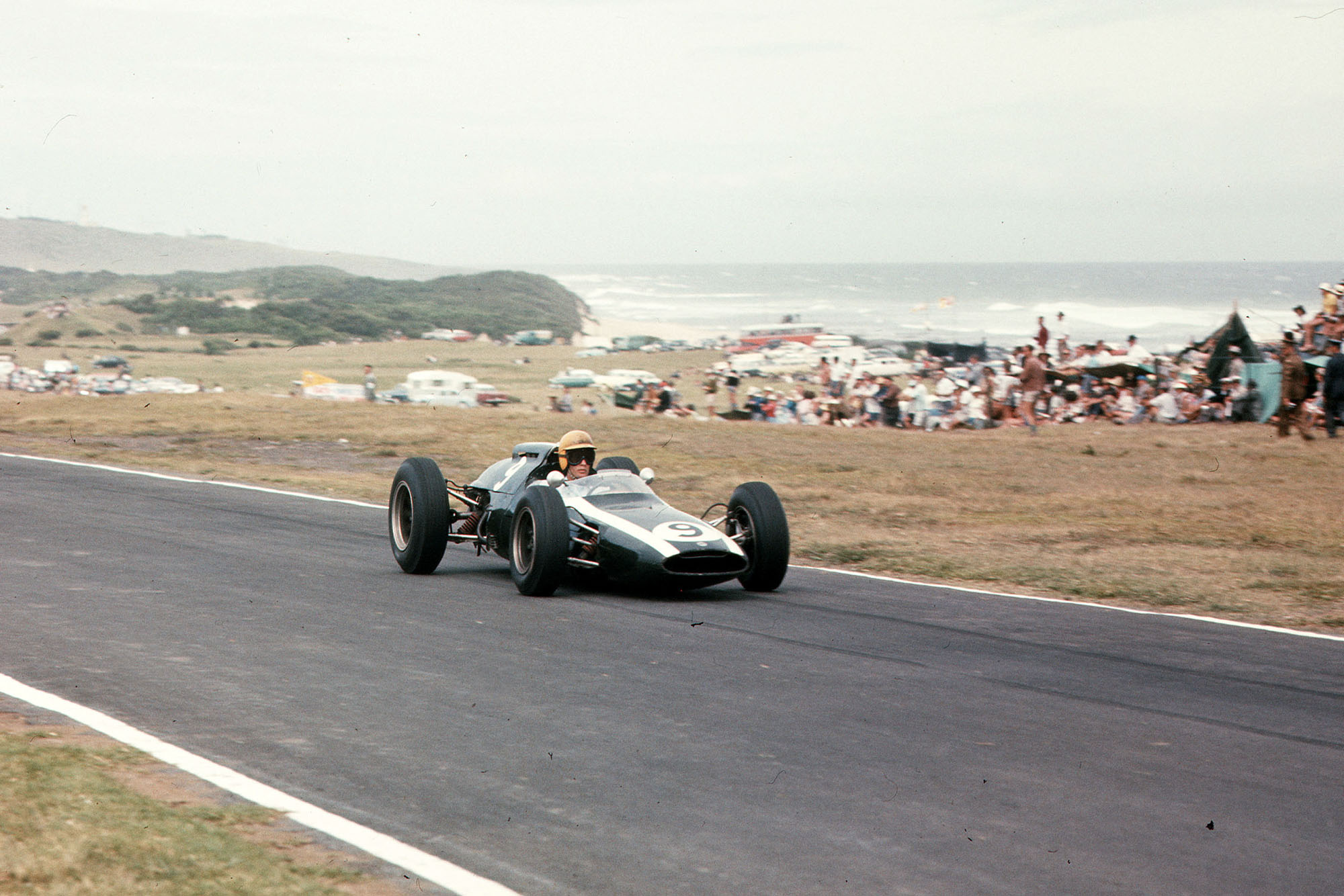 Tony Maggs in his Cooper Climax