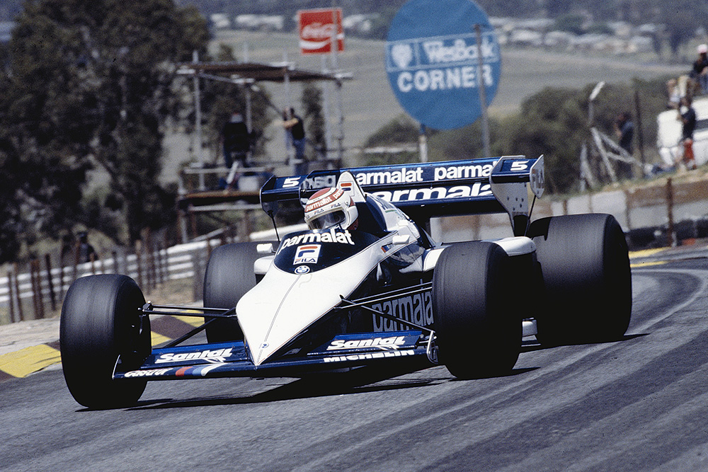 Nelson Piquet in his Brabham BT53 BMW.