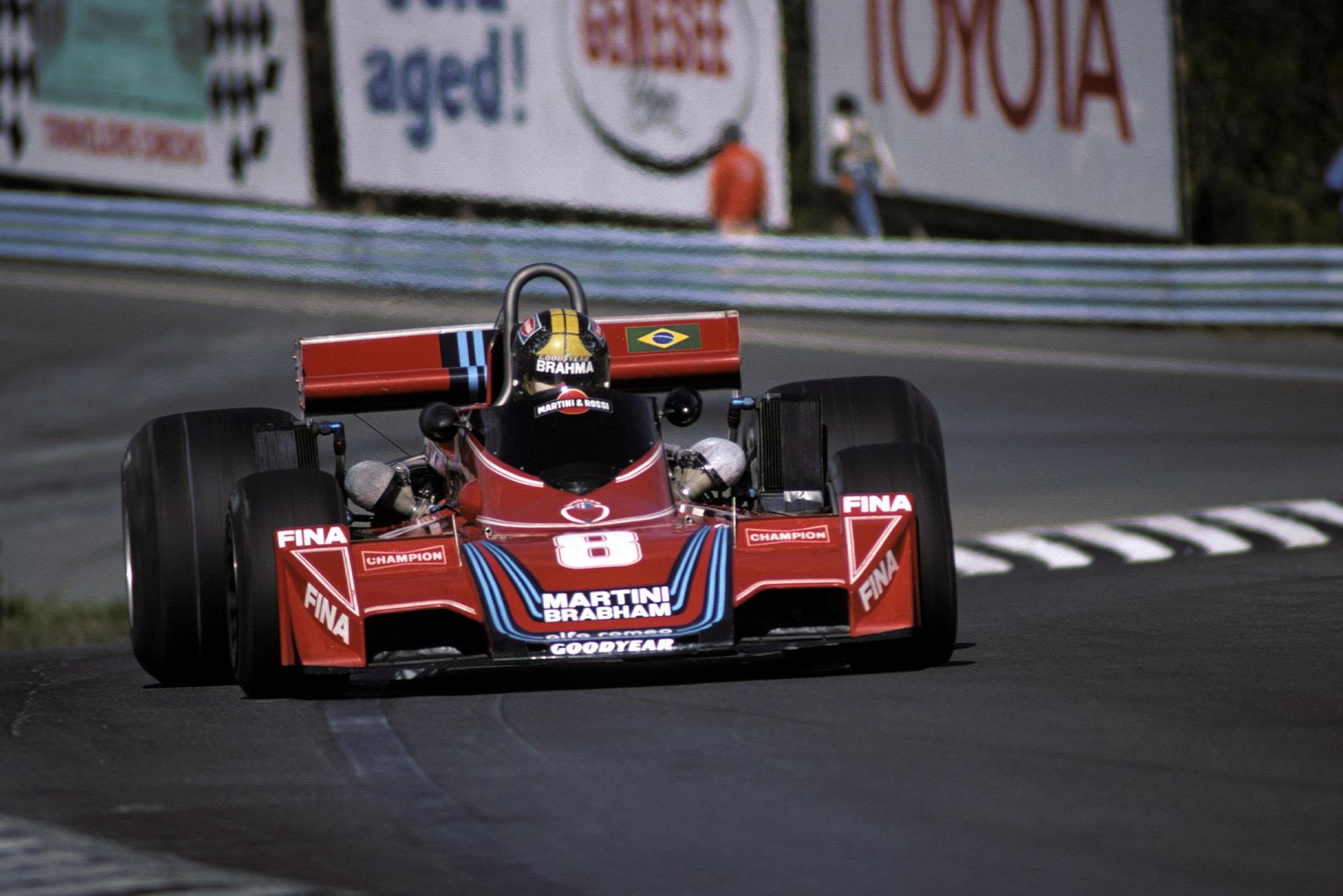 Carlos Pace (Brabham) at the 1976 United States Grand Prix East, Watkins Glen.