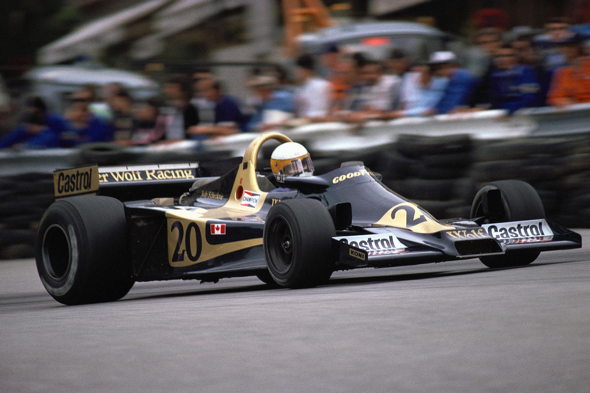 Jody Scheckter (Wolf) at the 1977 Monaco Grand Prix.