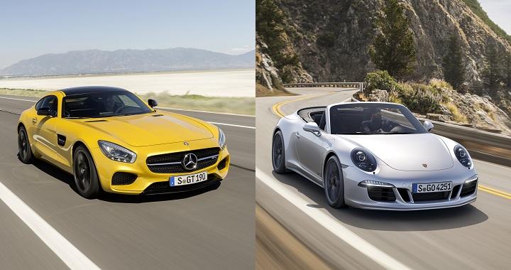 Mercedes AMG GT S vs Porsche 911 GTS