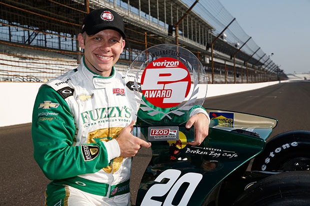 Ed Carpenter takes pole at Indy