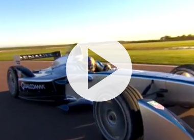 Formula E car makes its debut