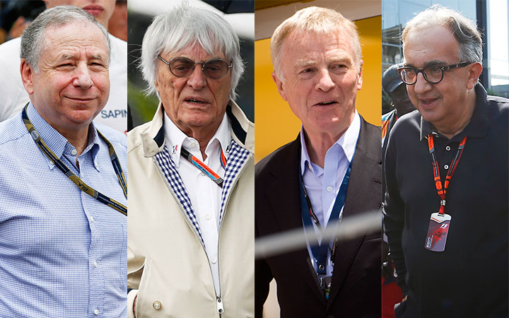 Showdown: Todt, Ecclestone and Mosley vs Marchionne