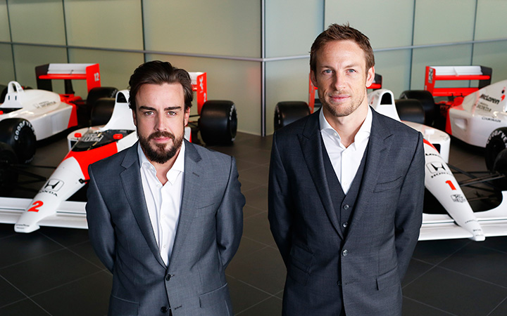 Button and Alonso at McLaren
