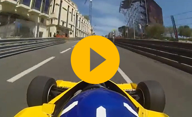 Damon Hill in Monaco