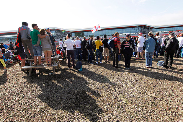 The atmosphere at Silverstone