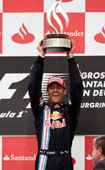 Webber in control for first GP win