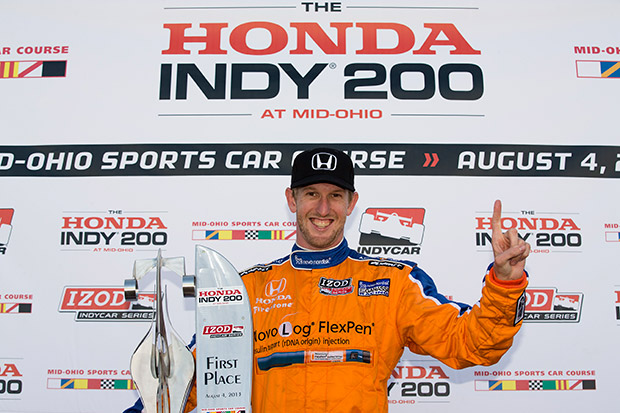 Charlie Kimball's first IndyCar win
