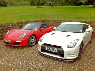 Nissan GT-R vs the Porsche Boxster