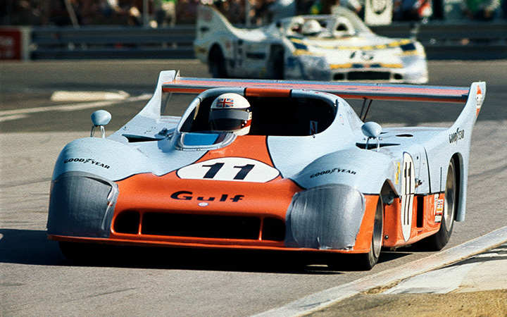 Derek Bell celebrates his first win at Le Mans