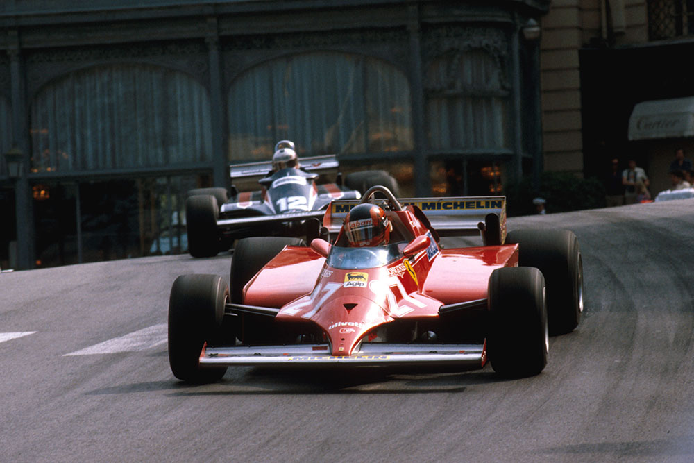 Gilles Villeneuve in a Ferrari 126CK at Casino.