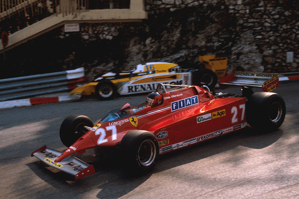Gilles Villeneuve (Ferrari 126CK) at Loews Hairpin.