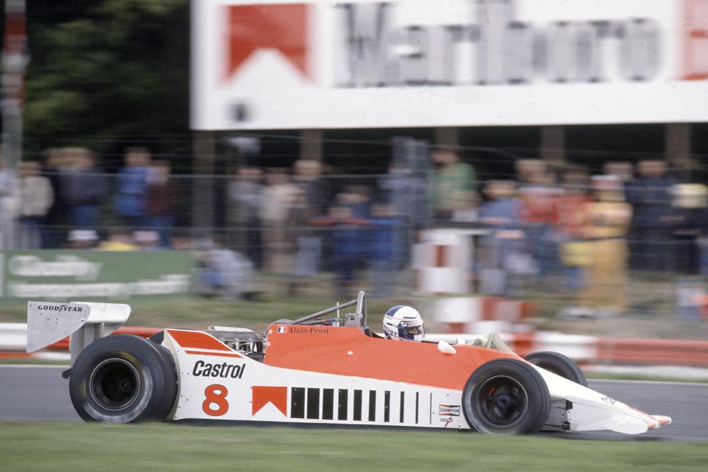 Alain Prost in a McLaren M29C-Ford Cosworth.