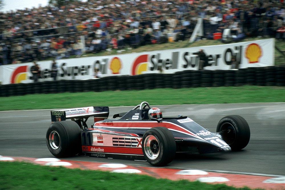 Mario Andretti in a Lotus 81.