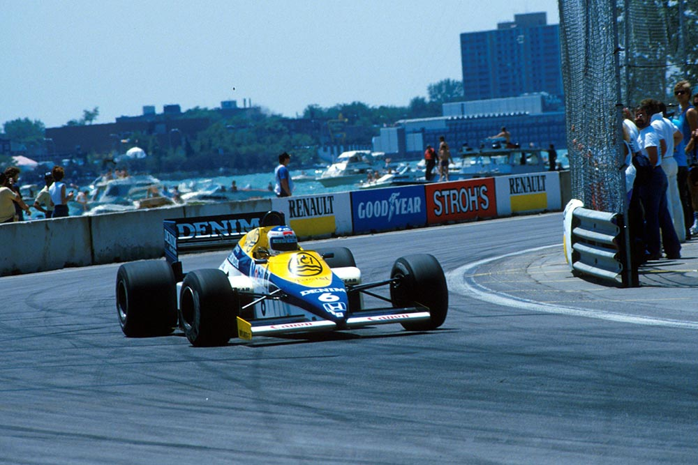 Keke Rosberg in his Williams Honda FW10.
